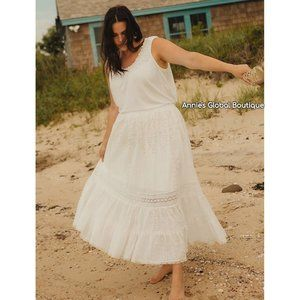 NWT ANTHROPOLOGIE VERB Diana Eyelet Maxi Skirt